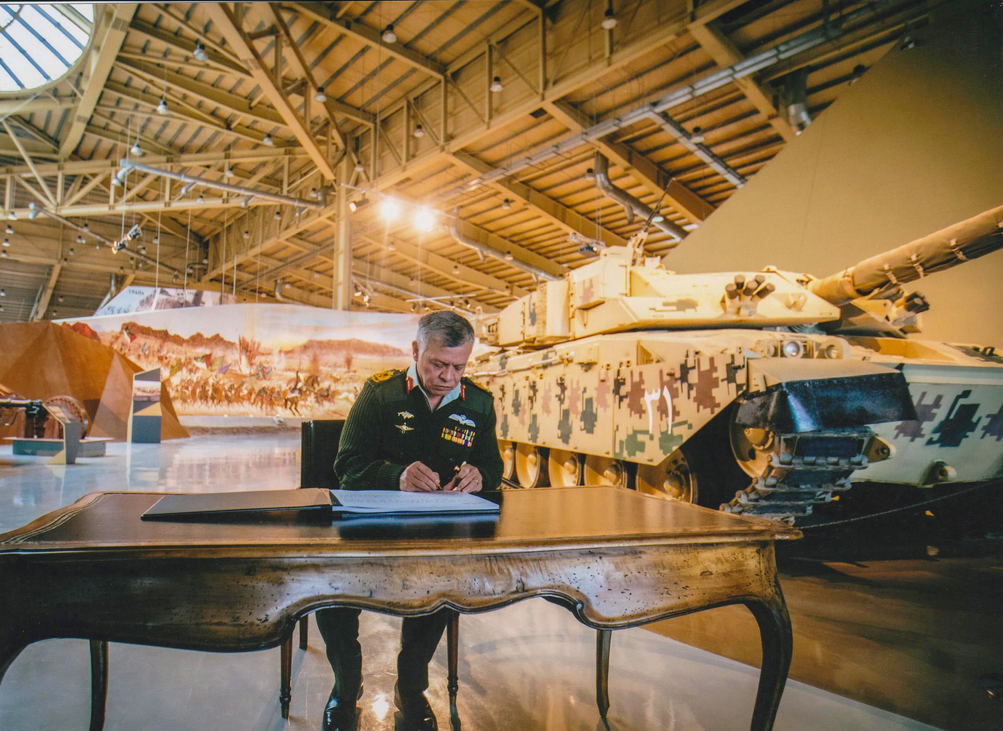 His Majesty King Abdullah II Inaugurates The Royal Tank Museum